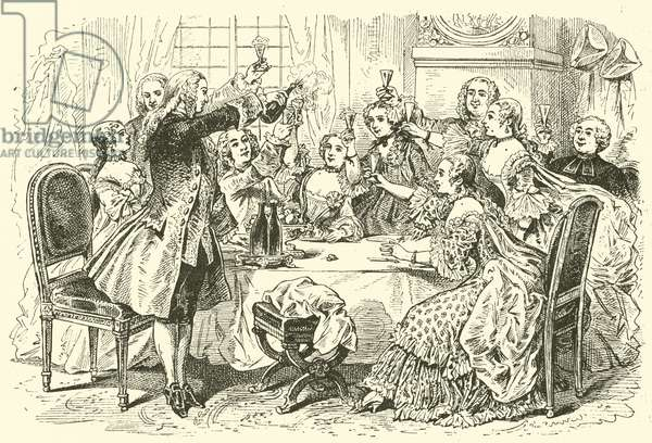 18th century party (engraving)