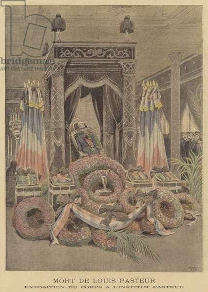 Death of Louis Pasteur (colour litho)