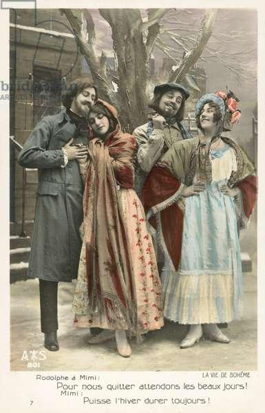 Scene from La Vie De Boheme (colour photo)