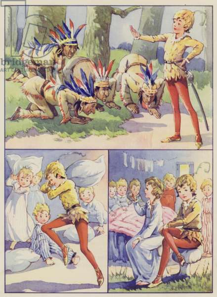 Illustration for J M Barrie's Peter Pan and Wendy (colour litho)