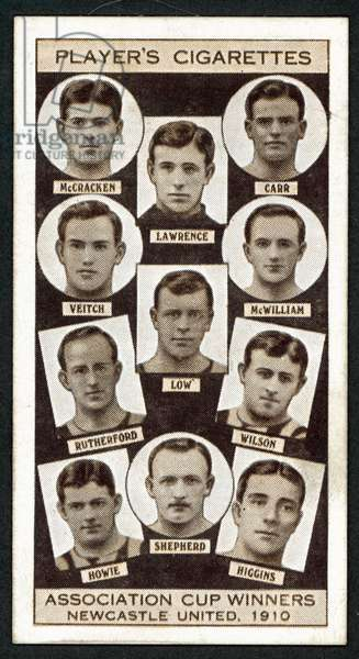 Association Cup Winners, Newcastle United, 1910 (litho)