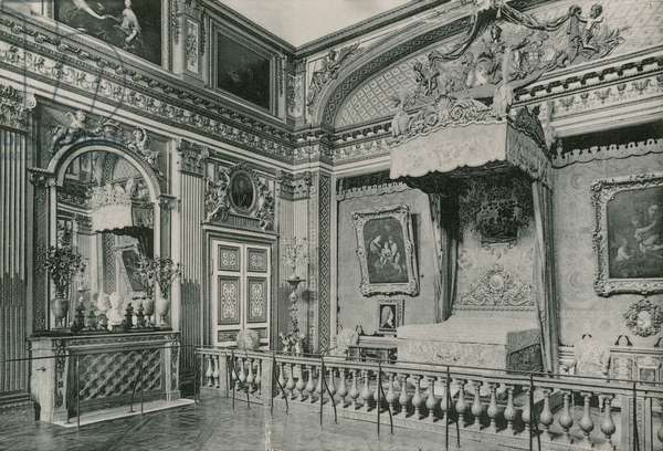 La Chambre a coucher de Louis XIV, The Bed-Room of the Louis XIV (photogravure)