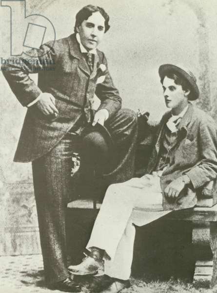 Oscar Wilde and Lord Alfred Douglas (b/w photo)