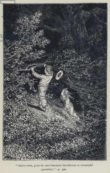 """Before them, grew the most beautiful blackberries in wonderful quantities"" (engraving)"