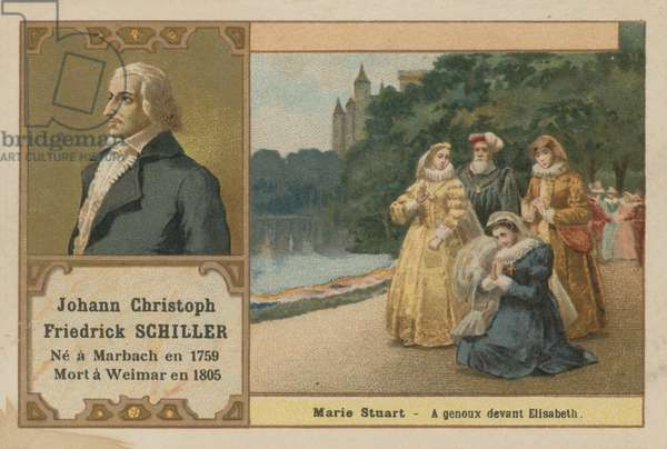 Friedrich Schiller, German poet; playwright and historian (chromolitho)