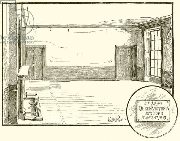 Room in which Queen Victoria was born (engraving)