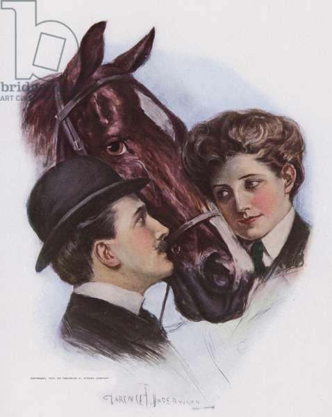 Love Me, Love My Horse (colour litho)