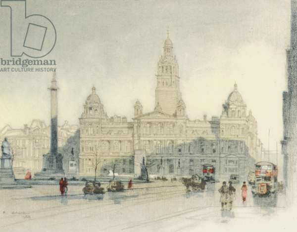 Glasgow: The City Chambers (colour litho)