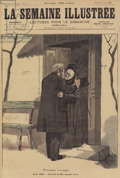 President Emile Loubet of France visiting his mother in Montelimar (colour litho)