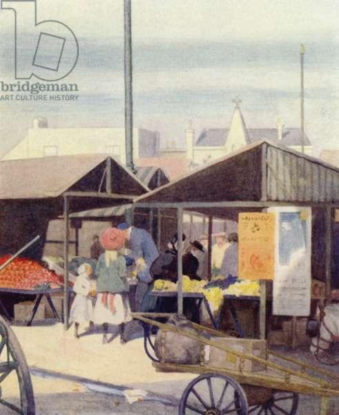 Cambridge: The Market Place (colour litho)