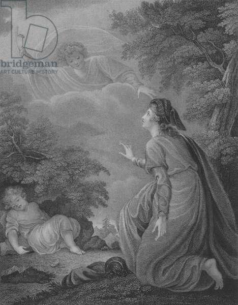 Hagar and Ishmael, Genesis 21, Verse 15-22 (engraving)