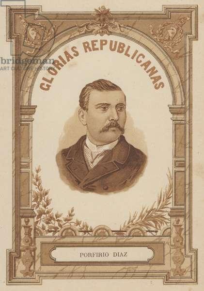 Porfirio Diaz, Mexican soldier and politician (litho)