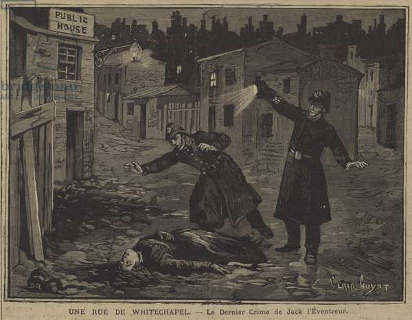 The last crime of Jack The Ripper (engraving)