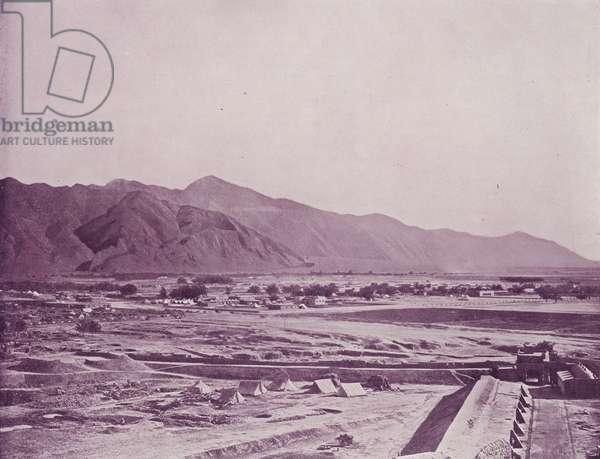 Bird's-Eye View of Quetta (b/w photo)
