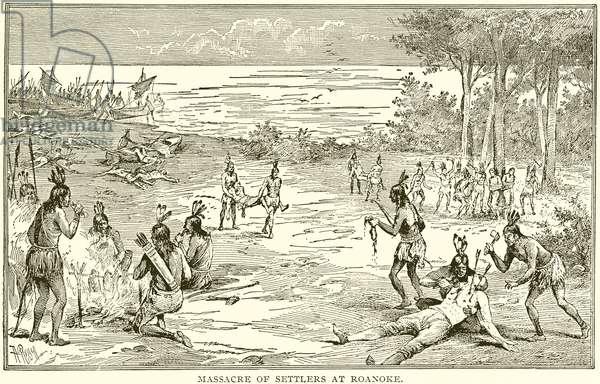 Massacre of Settlers at Roanoke (engraving)