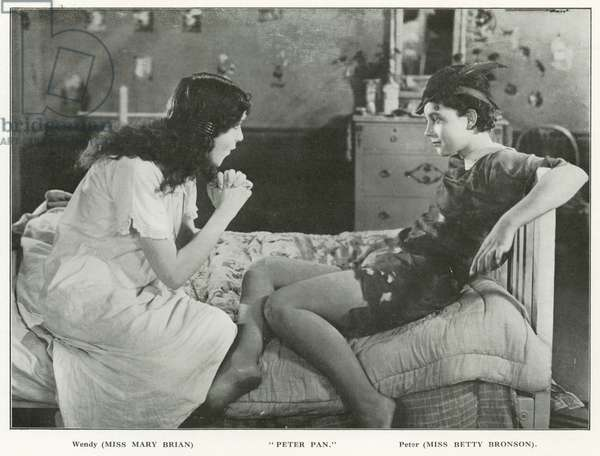 Scene from the film of Peter Pan (b/w photo)