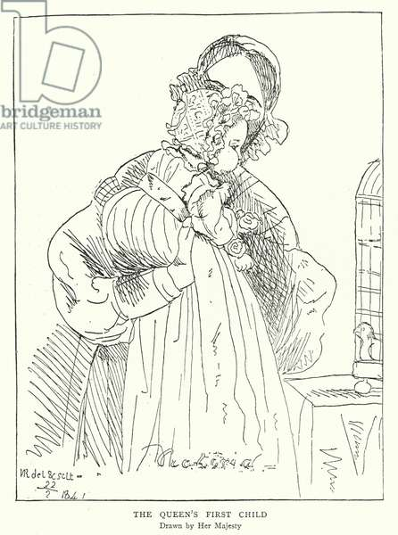 Queen Victoria's first child, drawn by Her Majesty (litho)