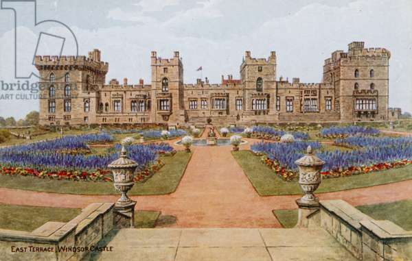 East Terrace, Windsor Castle (colour litho)