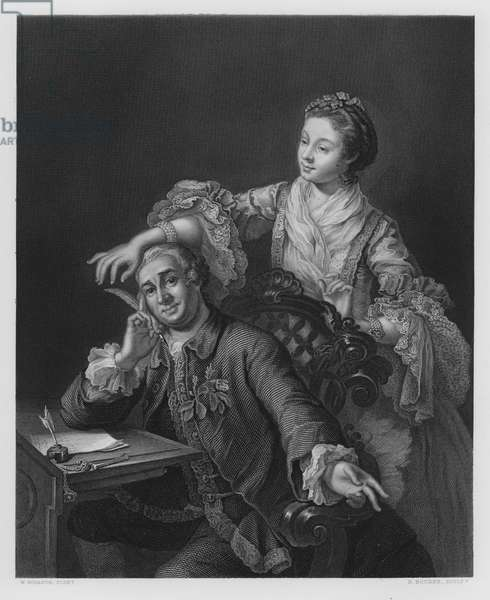 Garrick and His Wife, from the picture in the Royal Collection (engraving)