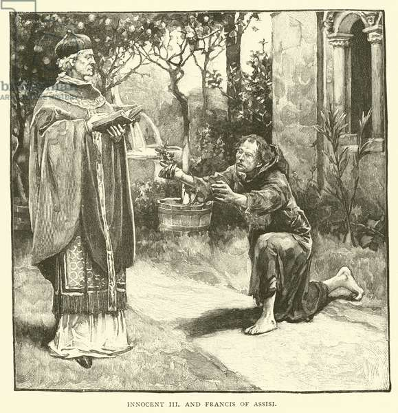 Innocent III and Francis of Assisi (engraving)