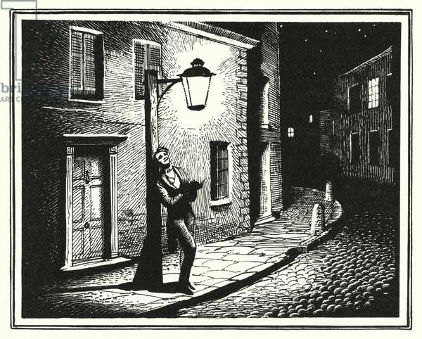 Hans Christian Andersen: The Old Street Lamp (litho)