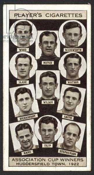 Association Cup Winners, Huddersfield Town, 1922 (litho)