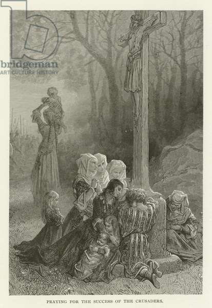 Praying for the success of the Crusaders (engraving)