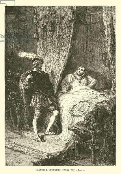 Francis I surprises Henry VIII (engraving)