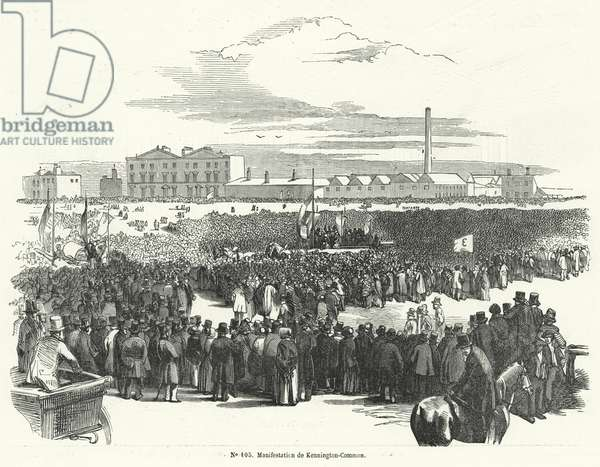 Great meeting if the Chartists on Kennington Common, London, 10 April 1848 (engraving)