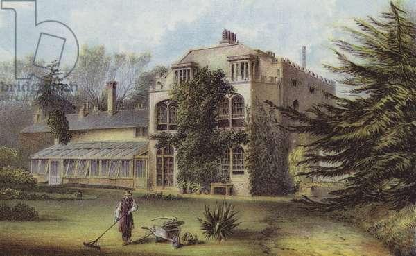 Tennyson's house (colour litho)