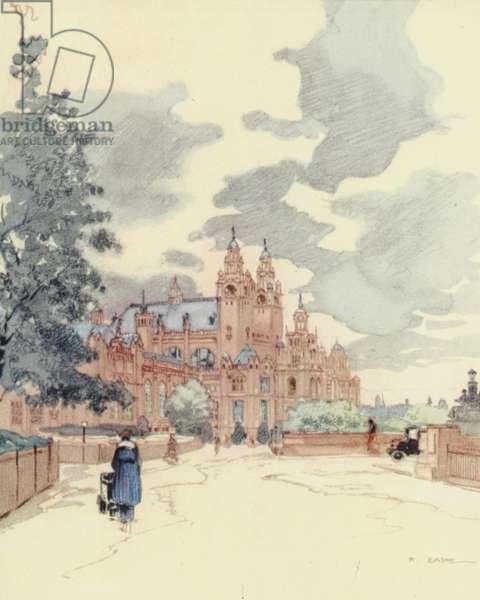 Glasgow: The Art Galleries (colour litho)