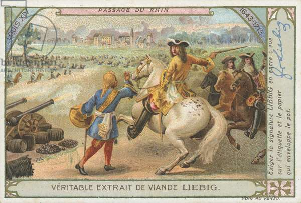 Louis XIV crossing the Rhine