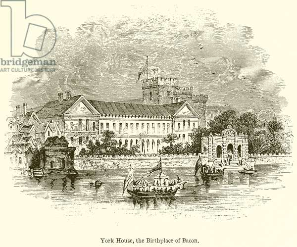 York House, the Birthplace of Bacon (engraving)