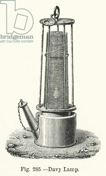 Davy Lamp (engraving)