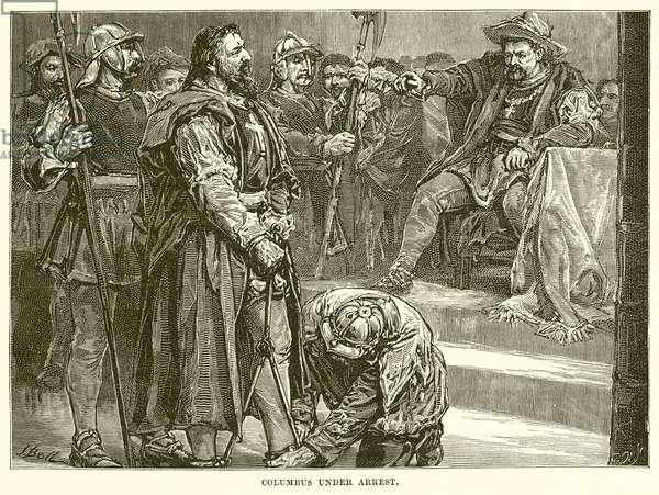 Columbus under Arrest (engraving)