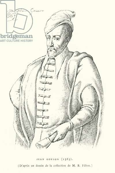 Jean Goujon, French Renaissance sculptor and architect (engraving)