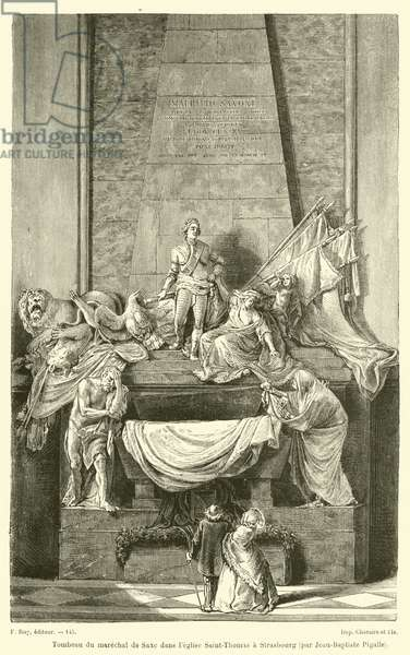 Tombeau du marechal de Saxe dans l'eglise Saint-Thomas a Strasbourg, par Jean-Baptiste Pigalle (engraving)