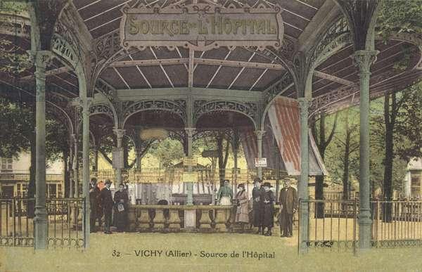 Vichy, Allier, Source De L'Hopital (colour photo)