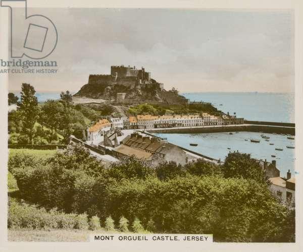 Mont Orgueil Castle, Jersey (coloured photo)