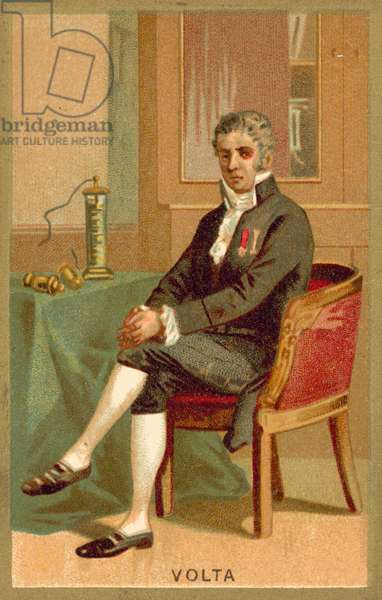 Alessandro Volta, Italian physicist (chromolitho)