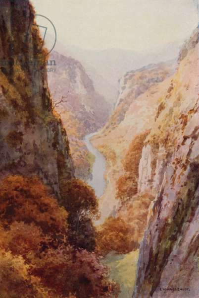 Dovedale (colour litho)