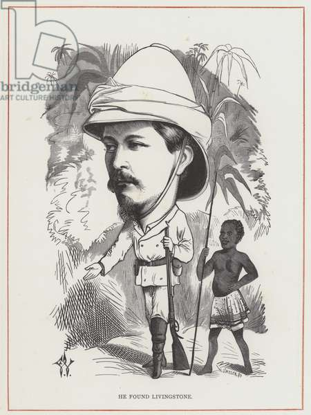 H M Stanley, He Found Livingstone (engraving)