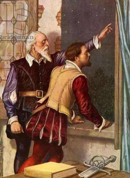 The astrologer Micer Codro shows Vasco Nunez di Balboa the star of his destiny.