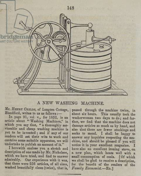The new washing machine (engraving)