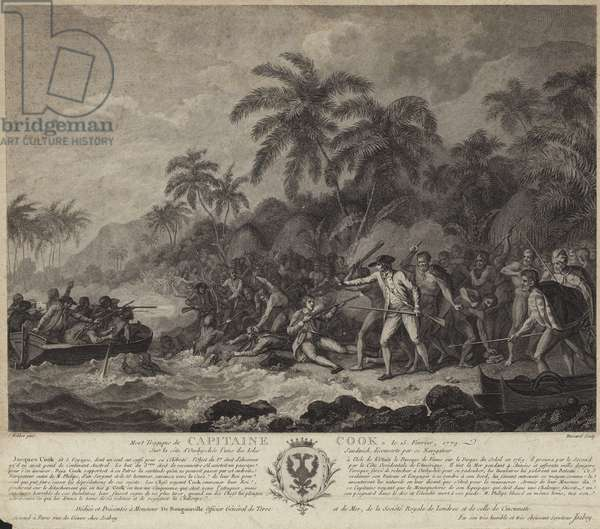 The tragic death of Captain Cook (engraving)