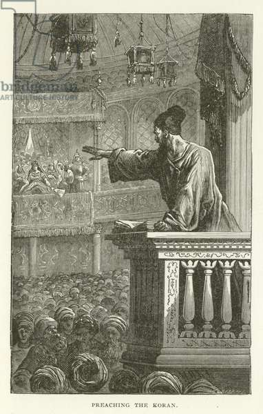Preaching the Koran (engraving)