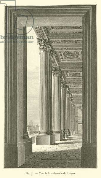 Vue de la colonnade du Louvre (engraving)