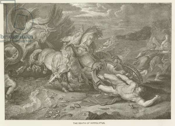 The death of Hippolytus (engraving)