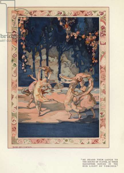 Illustration for The Happy Hypocrite by Max Beerbohm (colour litho)