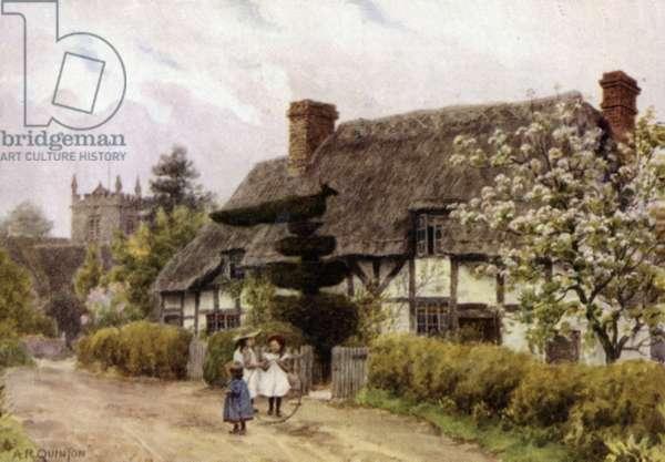 Norton, near Evesham, Worcester (colour litho)